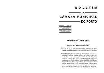 BOLETIM 3521 - Câmara Municipal do Porto