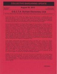 August 30 2012 - Durham Elementary OECTA