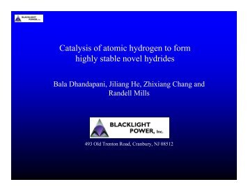 Catalysis of atomic hydrogen to form highly stable novel hydrides