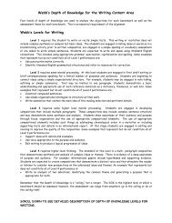 Webb's Depth of Knowledge for the Writing Content Area - Is34.org