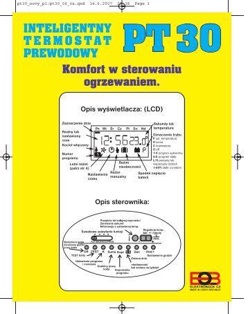 inteligentny termostat przewodowy pt30