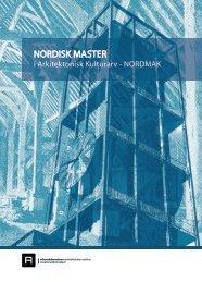 NORDISK MASTER - Arkitektur- og designhøgskolen i Oslo