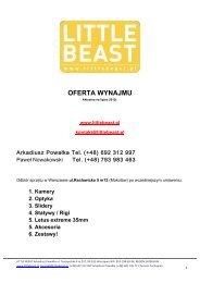 OFERTA WYNAJMU - Little Beast