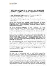 AIMPLAS participa en un proyecto para desarrollar plásticos y ...