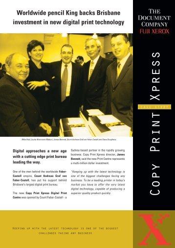 Worldwide pencil king backs Brisbane investment in ... - Fuji Xerox