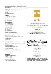 Oftalmologia - Agenzia internazionale per la prevenzione della cecità