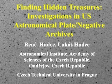 11.40 René HUDEC US Astronomical Photographic Data Aarchives