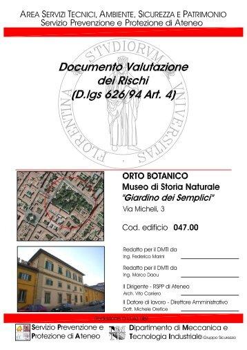 DVR - Orto Botanico.pdf - Museo di Storia Naturale - Università degli ...