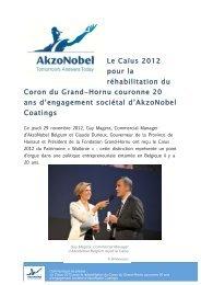 Le Caïus 2012 pour la réhabilitation du Coron du Grand-Hornu ...