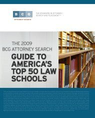The 2009 BCG Attorney Search Guide - Legal Recruiters