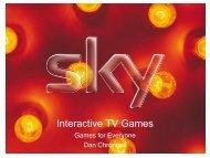Interactive TV Games - Idate