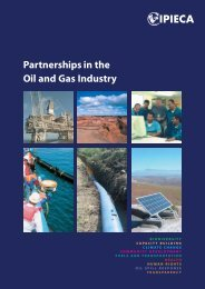 Partnerships in the Oil and Gas Industry - IPIECA