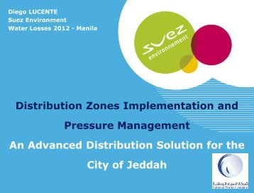 Distribution Zones Implementation and Pressure ... - Iwa-waterloss.org