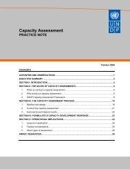 UNDP Capacity Assessment Practice Note - unpcdc