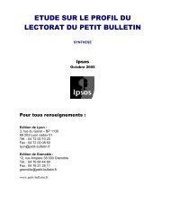 Version PDF de l'étude - Le Petit Bulletin