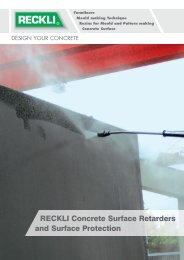 Concrete Surface Retarders and Surface Protection - RECKLI GmbH ...
