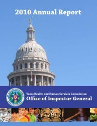 OIG Annual Report for Fiscal Year 2010 - Office of Inspector General