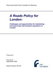 Roads Policy for London _Peter Brown_ - RAC Foundation