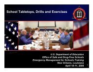 School Tabletops, Drills and Exercises - Readiness and Emergency ...