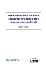 Osservatorio sulla dinamica economico-finanziaria delle ... - Acimit