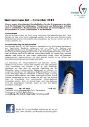 Weinseminare Juli – November 2012 - uhland21.de
