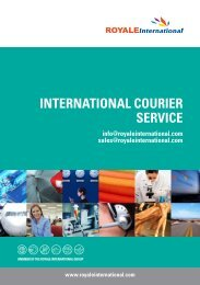 INTERNATIONAL COURIER SERVICE - Royale International Group