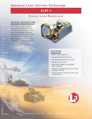Advanced Laser Systems Technology ELRF-3 - L-3 Communications
