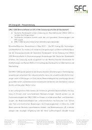 SFC Energy AG – Pressemitteilung EMILY 2200 ... - Clean Power Net