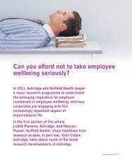 Corporate Wellbeing - Nuffield Health