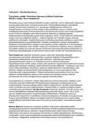 Työryhmä 7. Monikulttuurisuus Työryhmän vetäjät ... - Cupore