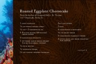 Roasted Eggplant Cheesecake from The ... - Timbers Resorts