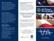 Department of Veterans Affairs Social Work Positions