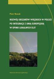 rozwój obszarów wiejskich w polsce po integracji z unią europejską ...