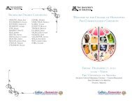 2010 Pre-Commencement Ceremony Program - College of ...
