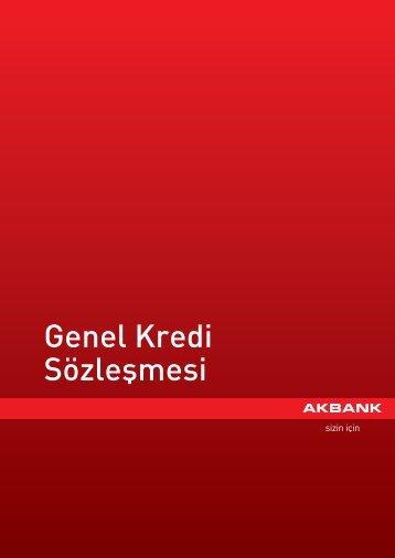 Genel Kredi Sözleşmesi