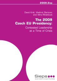 The 2009 Czech EU Presidency: - EUROPEUM Institute for ...