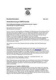 Kundeninformation Umstrukturierung im GEPA-Vertrieb - ELAN