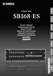 SB168-ES Owner's Manual - Yamaha Downloads