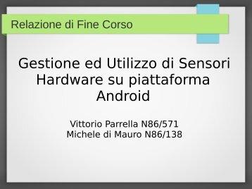 Gestione ed Utilizzo di Sensori Hardware su piattaforma Android - DMI