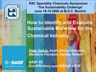 How to Identify and Evaluate Sustainable ... - Chemspec Events