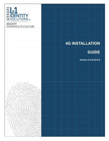 4G INSTALLATION GUIDE - Morpho