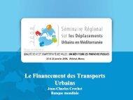 Le Financement des Transports Urbains - Euromedina