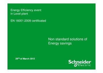 Non standard solutions of Energy savings - Toostusuudised