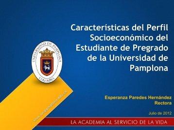 Variables Socioeconómicas - Universidad de Pamplona