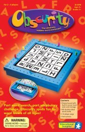 Part word search, part vocabulary challenge, Obscurity spells fun for ...