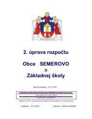 Schválená 2. úprava rozpočtu obce a ZŠ na rok 2011