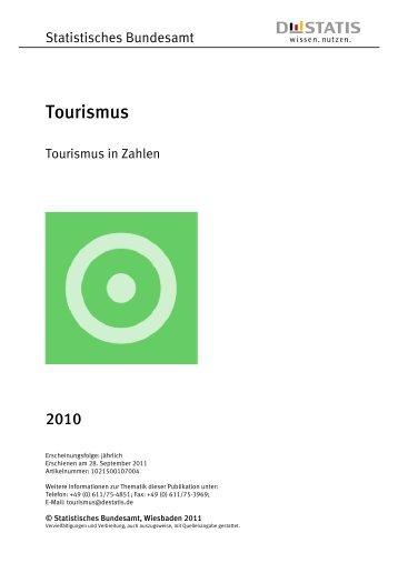 Tourismus in Zahlen 2010 (Erschienen am 28. September ... - BVCD