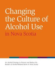 Changing the Culture of Alcohol Use - Government of Nova Scotia