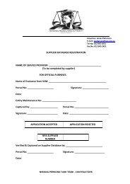 Supplier Registration Application Form 2013 - MPTT Contractor