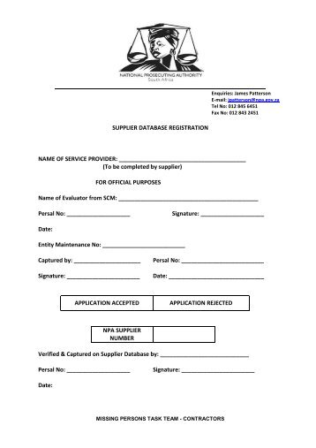 Discovery Metals Group Of Companies Supplier Application Form